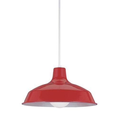 Sea Gull Lighting Painted Shade Pendants 1-Light Red Pendant