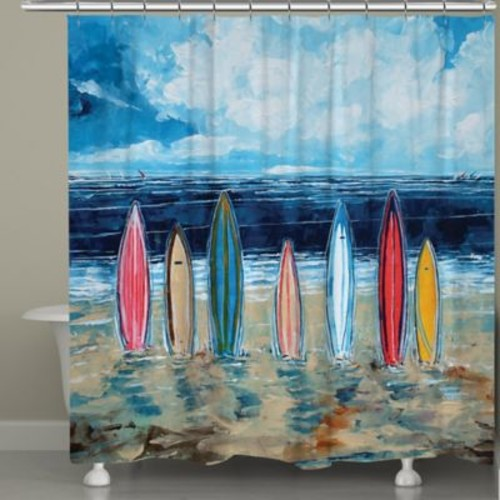 Laural Home Surfboards Shower Curtain