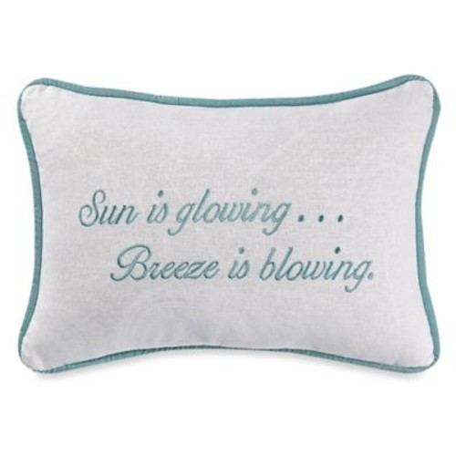 HiEnd Accents Catalina Sun is Glowing Boudoir Throw Pillow in Aqua/White