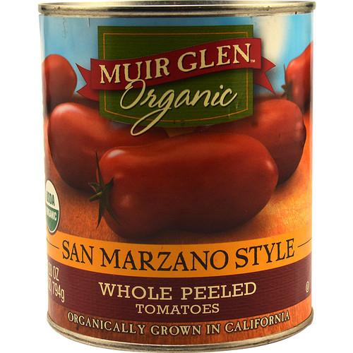 Muir Glen Organic Whole Peeled Tomatoes San Marzano Style -- 28 oz