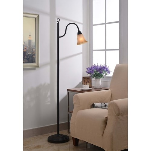 Design Craft Lincoln Blackened Oil Rubbed Bronze Floor Lamp