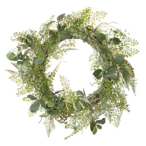 Darice 24-in. Artificial Green Fern Foliage Wreath