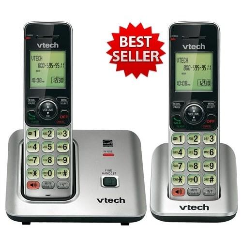 Vtech CS6619-2 Cordless Handset DECT 6.0 2 Handsets Speakerphone New !