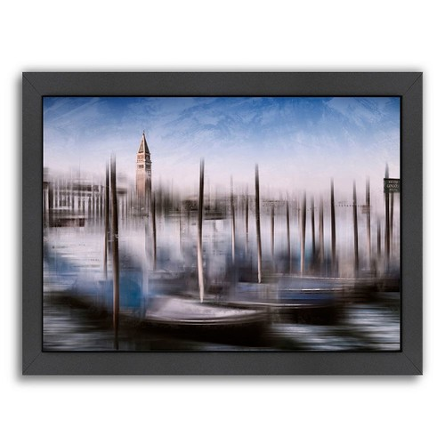 Americanflat City Art Venice Gondolas & Grand Canal Framed Wall Art