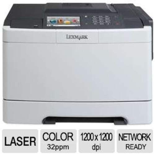Lexmark CS510DE Color Laser Printer with Duplex & Networking - up to 32 ppm Black & Color, 250-sheet Tray, 512MB Memory, 1.5K - 7K recommended pages per month, 4.3