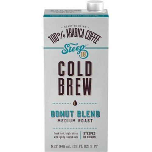 Steep 18 Donut Blend Shelf Stable Cold Brew Coffee, 32oz