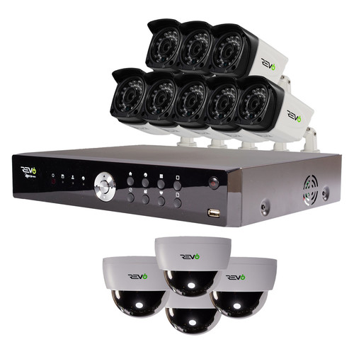 Aero HD 1080p 16 Ch. Video Security System with 12 Cameras