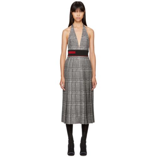 FENDI Black & White Glen Plaid Dress