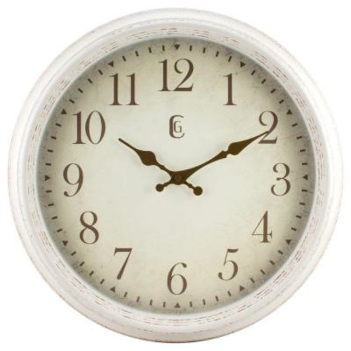 La Crosse Technology 16 in. H Round Antique Patina Analog Wall Clock