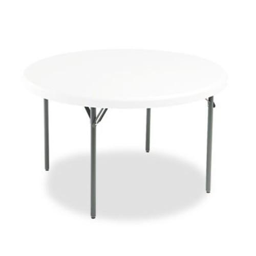 Iceberg IndestrucTable TOO 1200 Series Round Folding Table - Round - 48quot; x 29quot; - Steel, Polyethylene - Platinum