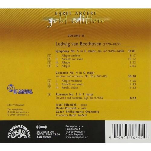 Ancerl Gold Edition 25: BEETHOVEN Symphony No. 5 / Piano Concerto No. 4 / Violin Romance No. 2