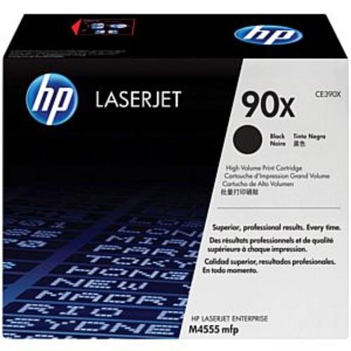 HP 90X Black High Yield Original LaserJet Toner Cartridge - Up to 24,000 Pages, For HP LaserJet Enterprise 600 & 555 MFP Series Printers - CE390X