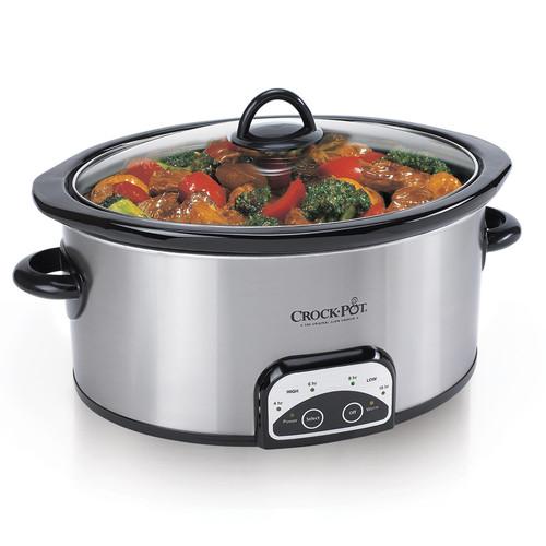 Crock-Pot. SCCPVP600-S 6 Quart Programmable Slow Cooker, Stainless Steel