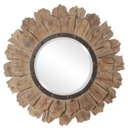 Round Cocoa Wall Mirror
