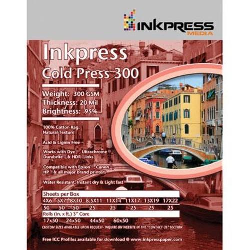 Inkpress Cold Press 300 Matte Photo Paper (13x19