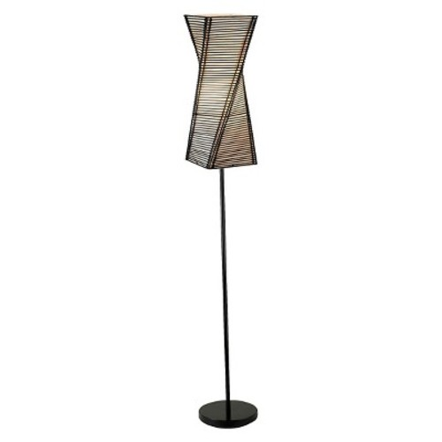 Adesso Stix 68 in. Black Floor Lamp