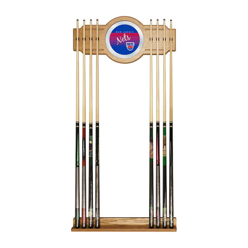 Jersey Nets Hardwood Classics Billiard Cue Rack with Mirror