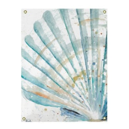 Coastal Shell Watercolor All-Weather Canvas Wall Art