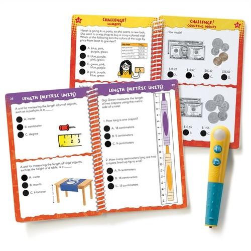 Educational Insights Hot Dots Jr. Let's Master Grade 2 Math Set with Hot Dots Pen