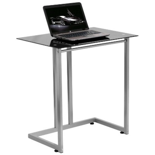 Black Tempered Glass Computer Desk - Flash Furniture