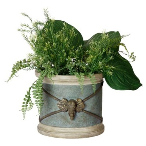Bombay Outdoors Round Elephant Planter