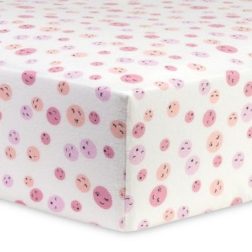 Trend Lab Be Happy Flannel Fitted Crib Sheet