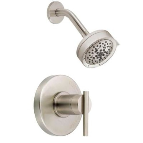 Danze Parma Single-Handle Pressure Balance Shower Faucet Trim Kit in Brushed Nickel (Valve Not Included)