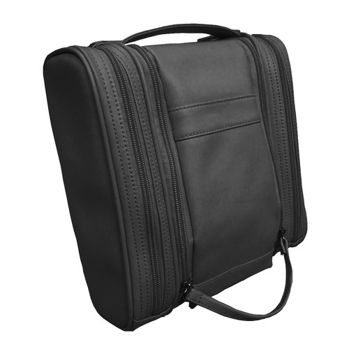 Royce Leather Executive Toiletry Travel Grooming Bag in Genuine Leather Color: Black