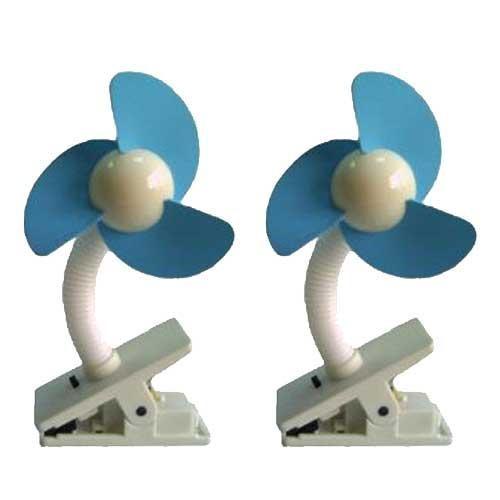 Dream Baby Stroller Fan, White/Blue - 2 Pack: Baby