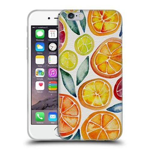 Official Cat Coquillette Fruits & Veggies Citrus Slices Soft Gel Case For Apple Iphone 6 / 6S