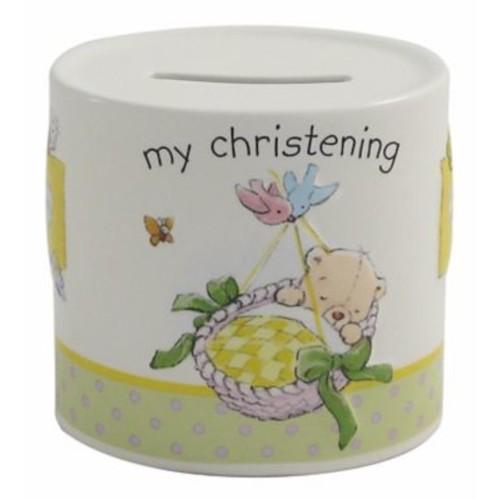 Belleek My Christening Piggy Bank