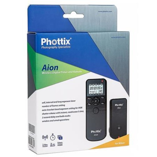 Phottix Aion Wireless Timer & Shutter Release for Canon, Nikon and Sony Cameras