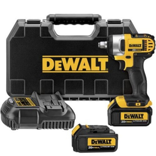 DeWalt MAX 1/2 in. Square Cordless Impact Wrench Kit 20 volts (DCF880M2)