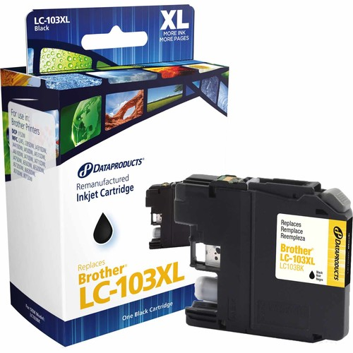 Dataproducts DPCLC103B Remanufactured Inkjet Cartridge for Brother LC-103XL - High Yield Black Ink