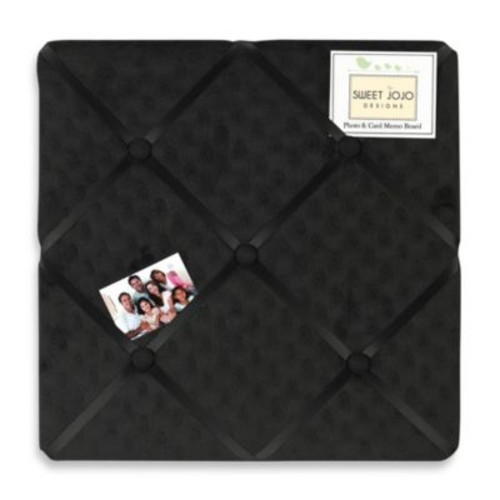 Sweet Jojo Designs Minky Dot Fabric Memo Board in Black