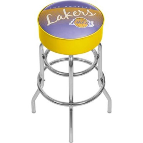 Trademark Global NBA Hardwood Classics NBA1000HC-LAL Steel Padded Swivel Bar Stool, Los Angeles Lakers