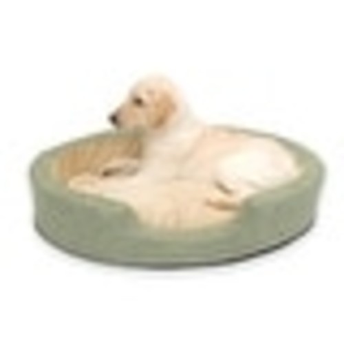 K&H Pet Products Thermo Snuggly Sleeper Oval Pet Bed Large Sage 31