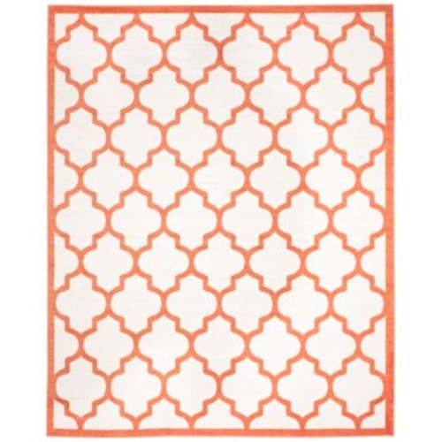 Safavieh Amherst Indoor/Outdoor AMT420F Beige/Orange 9' x 12' Area Rug