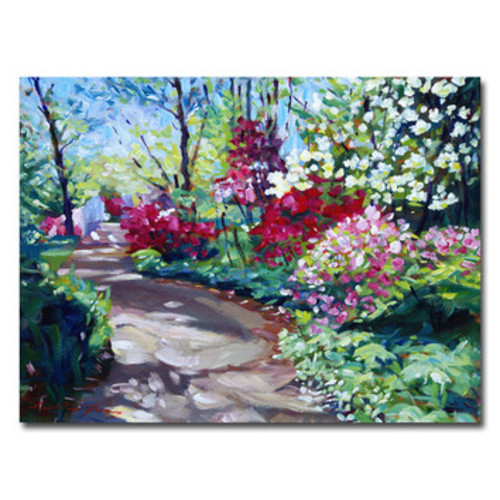 'Azalea Pathway' by David Lloyd Glover Framed Painting Print on Wrapped Canvas