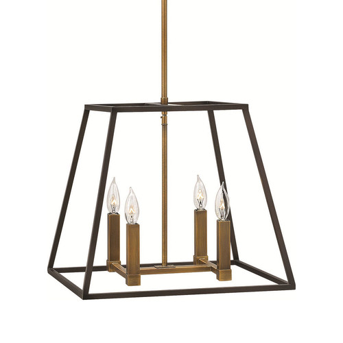 Fulton 4 Light Pendant [Model : 3334BZ - Small \/ Bronze]