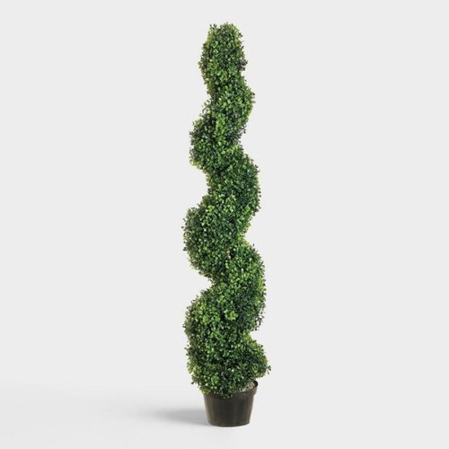 Faux Boxwood Spiral Topiary