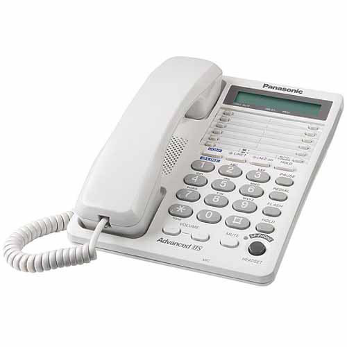 Panasonic KX-TS208W 2-Line Integrated Phone System, White