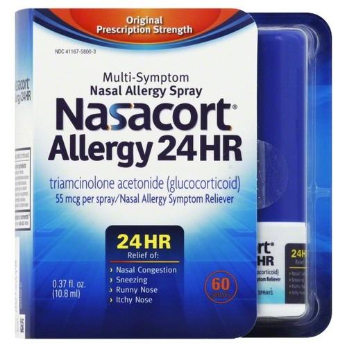 Nasacort Allergy, Multi-Symptom, Original Prescription Strength, 55 mcg, Nasal Spray, 0.37 fl oz (10.8 ml)