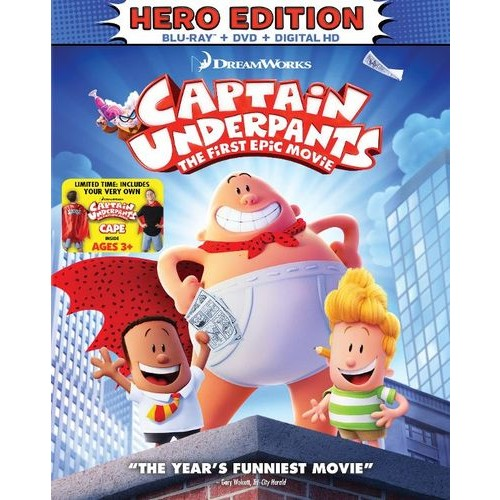 Captain Underpants: The First Epic Movie [Child's Cape Included] [Blu-ray] [2017]