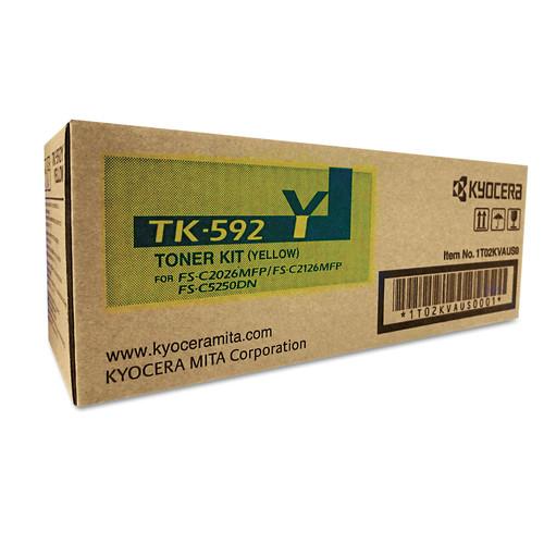 Kyocera KYOTK592Y TK592Y Toner, 7,000 Page-Yield, Yellow