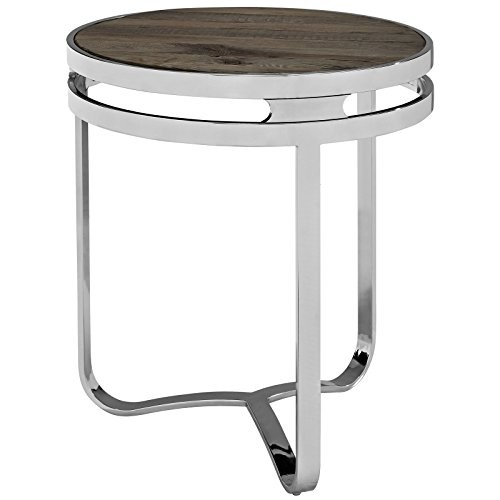 Modway Provision Wood Top Side Table, Brown [Brown]