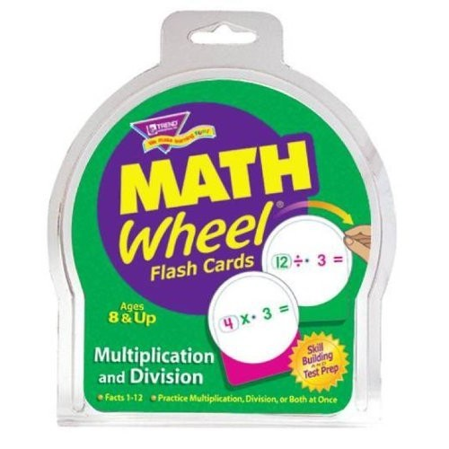 Trend Math Wheel Multiplication and Division Flash Cards - Set of 12 Cards Includes 240 Equations