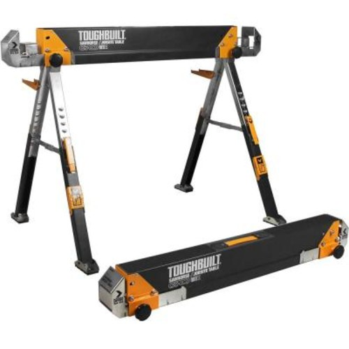 TOUGHBUILT 32 in. Tall Adjustable Folding Sawhorse