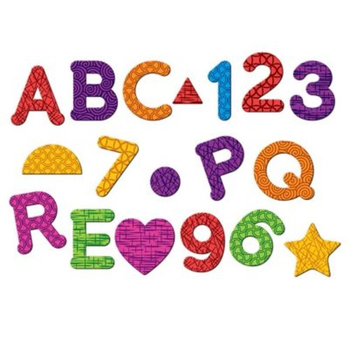 Learning Resources Magnetic Letters, Numbers & Shapes