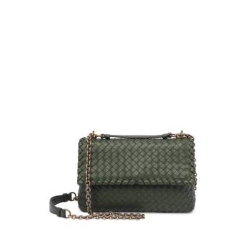 BOTTEGA VENETA Small Olimpia Intrecciato Leather Chain Shoulder Bag